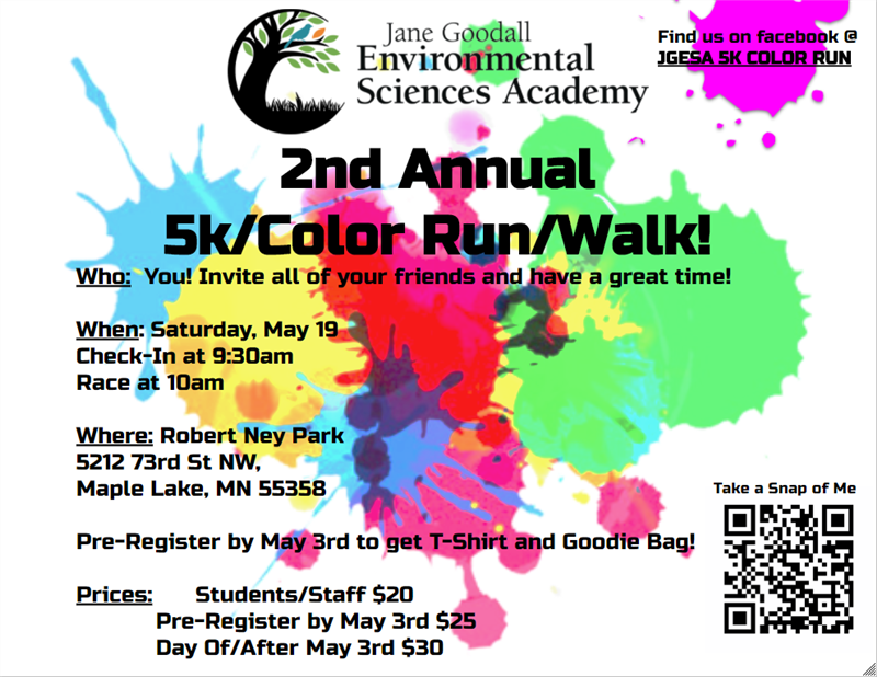 5K color run 5/19/18